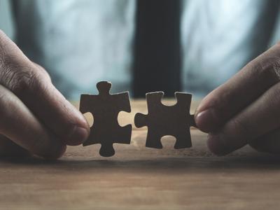 Business puzzle image